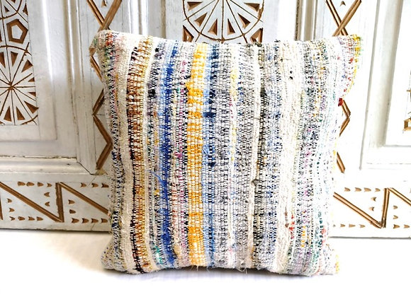 Vintage Kilim Throw pillow - Sea foam