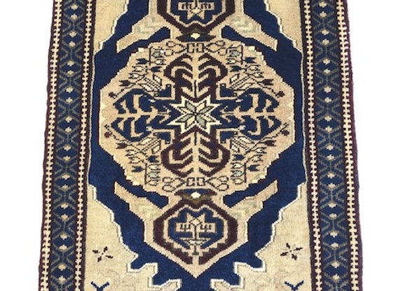 Vintage Taspinar Dowry Rug / Turkey - Small size