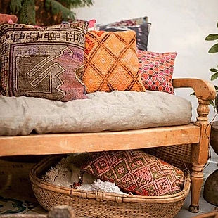 Kilim throw pillow inspiration for autum