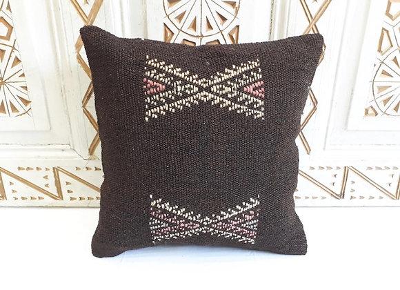 Vintage Kilim Pillow -40x40cm Goat Hair Tribal