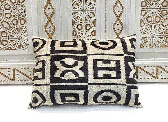 Handwoven IKAT Pillow                                                     Velvet