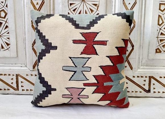 Vintage Kilim Pillow    40x40cm - Aqua