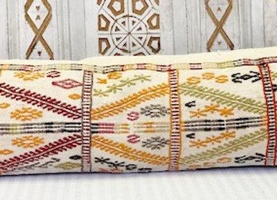 Vintage Turkish Kilim Cushion - Boho longLumber