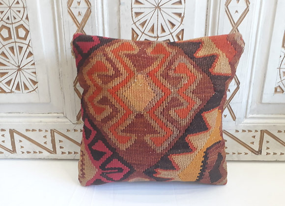 Vintage Kilim Pillow -Vibrant Autumn