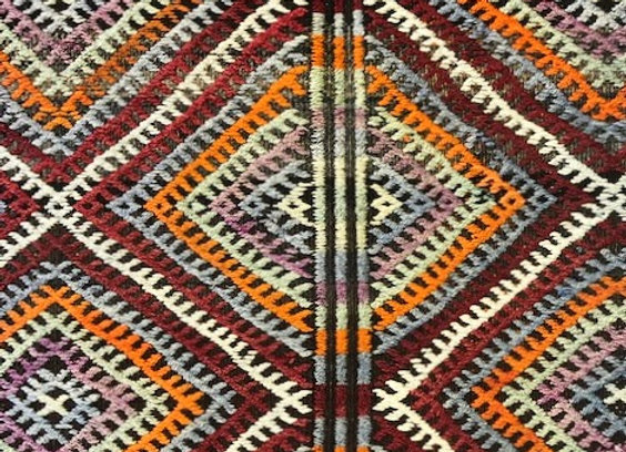 Vintage Boho Tribal Kilim - Turkey