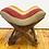 Thumbnail: Vintage Kilim Teahouse Stool - Bold Boho Stripe