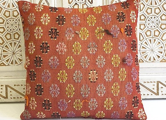 Vintage Kilim Pillow - Soft flower