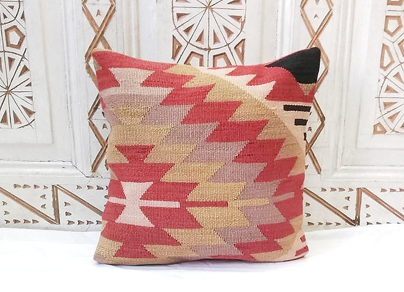 Vintage Kilim Pillow                            40 x 40 cm    'Sienna Blaze '