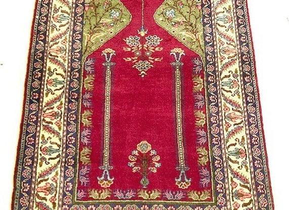 Vintage Kayseri Prayer Rug - One-of-a-kind!