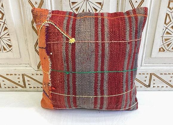 Vintage Turkish Boho Pillow         40x40cm       Rustic Stripe