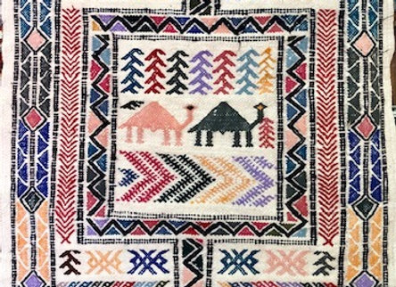 Nomadic Kilim Woven&Embroidered Wall Hanging