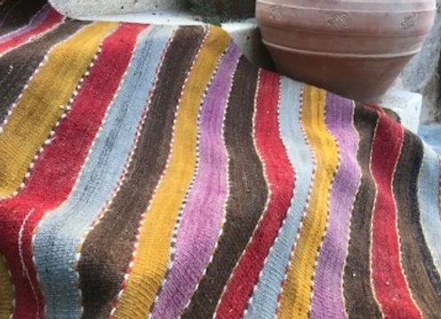 Kurdish Siirt Vintage Kilim- Divine Stripes