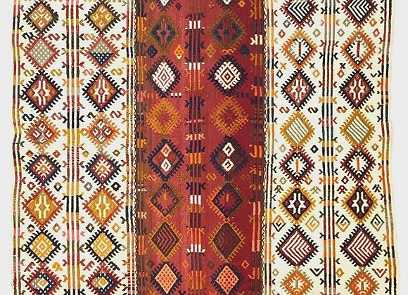 Tribal 3 paneled Kurdish Kilim