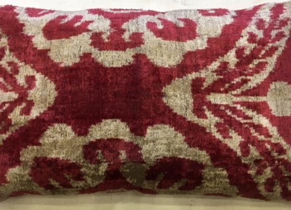 Ikat Velvet Cushion