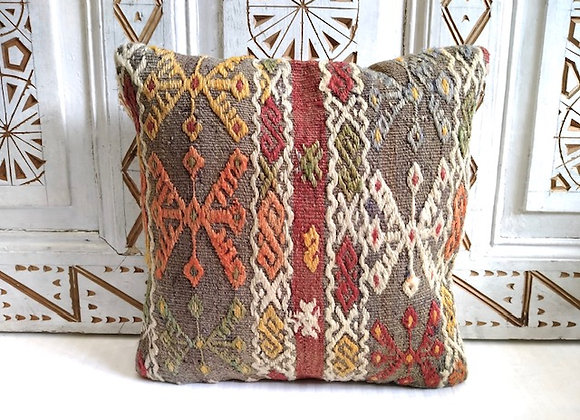 Boho Kilim Cushion - Nomadic grey