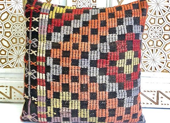 Vintage Kilim Pillow - Large 65x65cm
