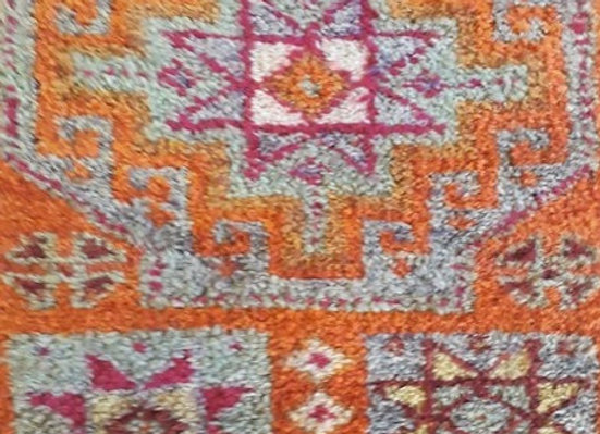 Viintage Kurdish Runner  - Briight and Bold