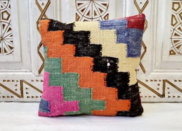 Vintage Turkish Boho Pillow     Bright & Bold/orange
