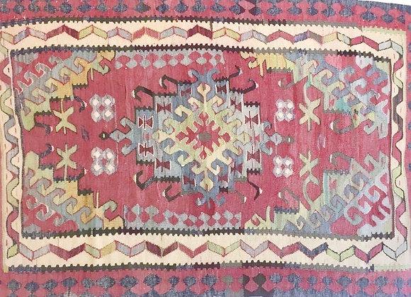 Vintage Anatolian Usak Kilim