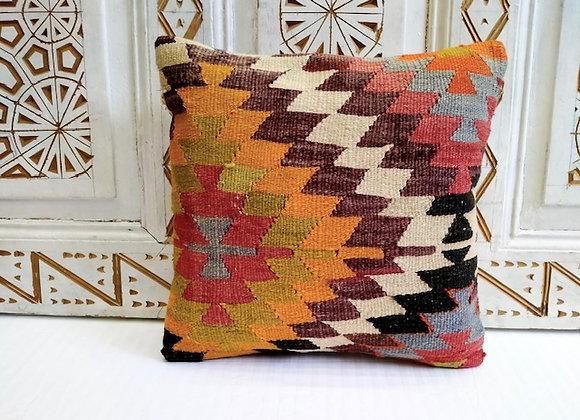 Vintage Kilim Pillow - Anatolian Blaze