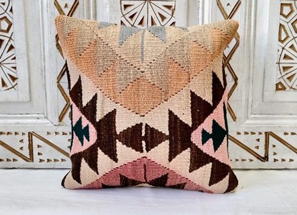 Vintage Turkish Boho Pillow     'Pastel Earth'