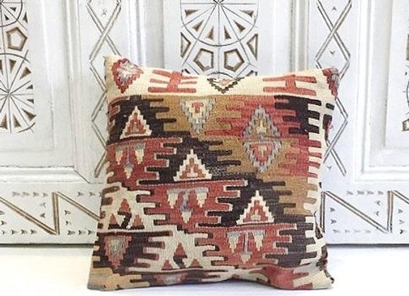 Turkish Kilim Throw Pillow                                            40 x 40 cm