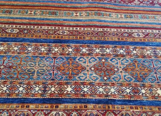 New Natural dye Carpet - Turkish Cuval design Blue/Green