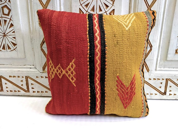 Boho Kilim Cushion - Hand woven Vintage
