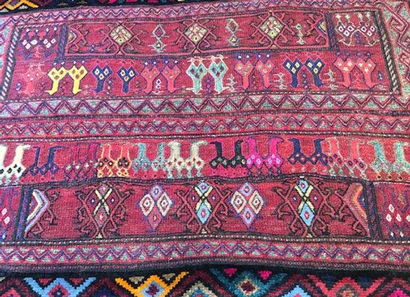 Bahtiyari Open Camel Bag Kilim