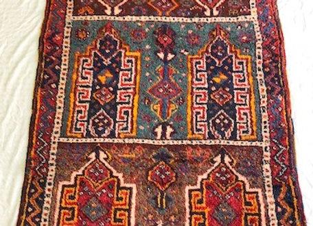 Vintage Tribal Safak Kurd Hallway Rug - Turkey