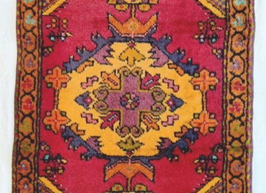 Vintage Turkish Dowry Rug -small