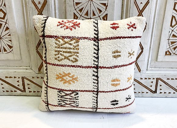 Vintage Turkish Boho Pillow         40x40cm  Cream detail