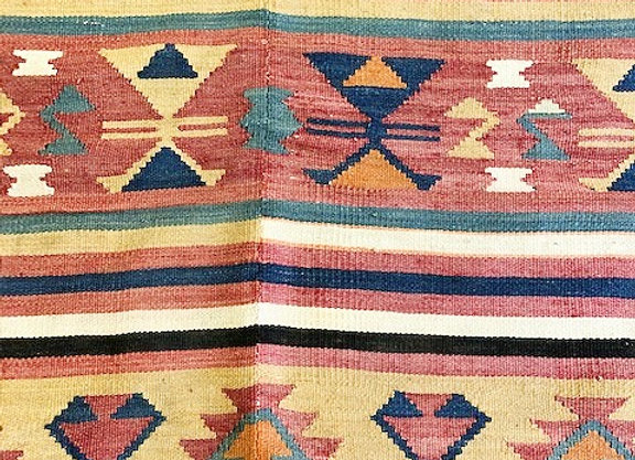 Vintage Turkish  Boho Kilim - Earth & Sand