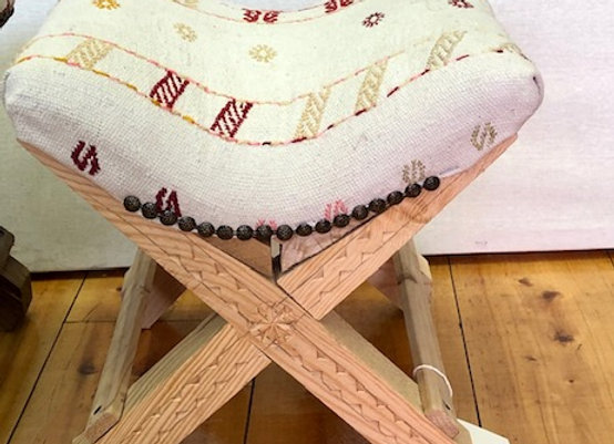 Turkish Teahouse Stool - Boho Kilim