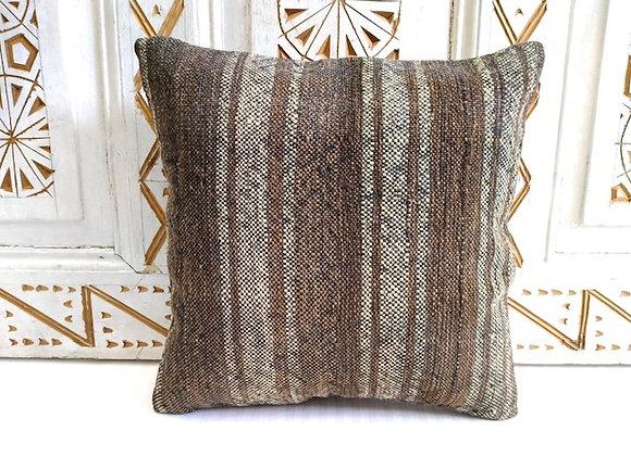 Turkish Boho Kilim Cushion - Nomad natural