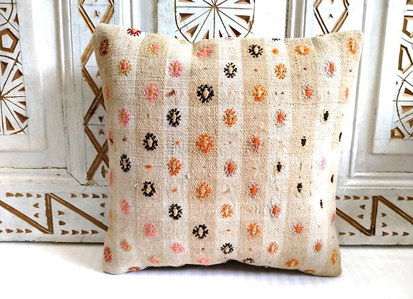 Vintage Kilim  Pillow           Boho Flower