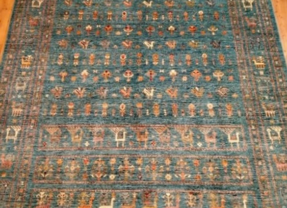 Contemporary Tribal Design Rug - Blue/Green