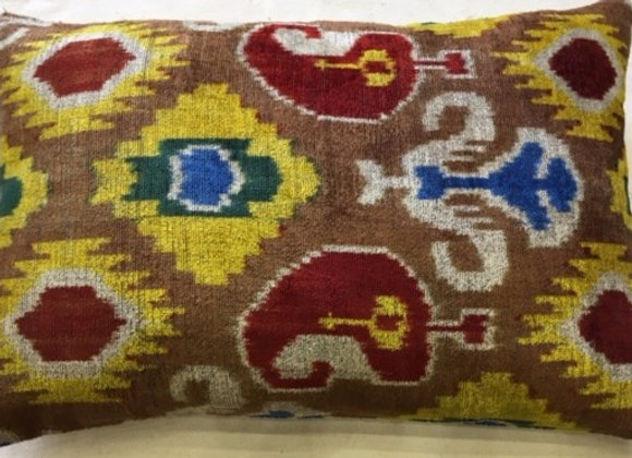 Ikat Velvet Cushion
