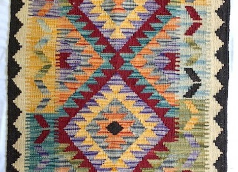 New Usak Multi Color Kilim