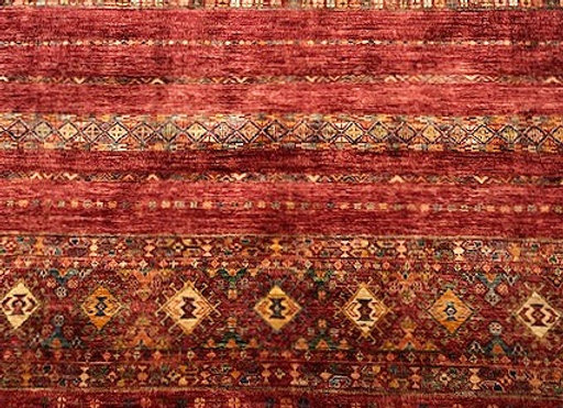 Contemporary Turkish Tribal Design - Warm Sienna