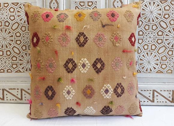 Vintage Kilim Pillow - Large 65x65cm