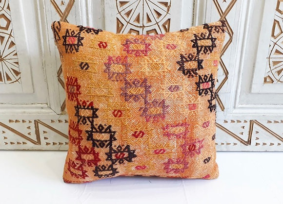 Vintage Kilim Pillow -40 x 40 cm Sunrise detail