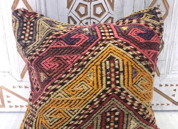 Vintage Boho Kilim Pillow - 40 x 40 cm Textured nomadic