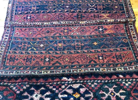 Vintage Luri Open Camel Bag Kilim