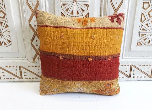 Vintage Kilim Pillow -40 x 40 cm Sunrise bold stripe