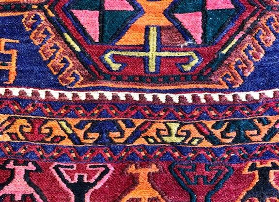 Vintage Soumak Kıilim Runner - Shahseven Tribe / Iran