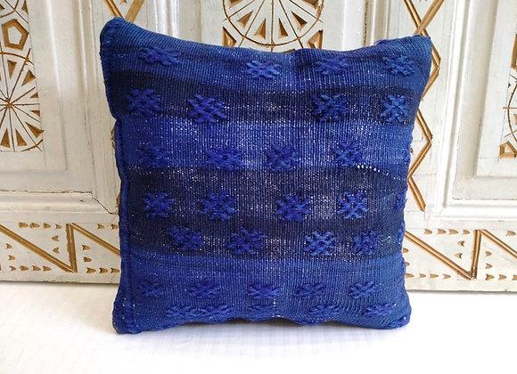 Vintage Kilim Pillow           40 X 40cm Indigo Square