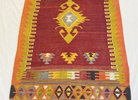 Vintage Turkish 'Goddess' Kilim