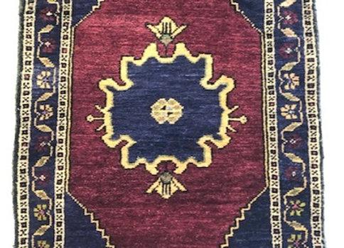 Vintage Turkish Dowry Rug - Unique Design