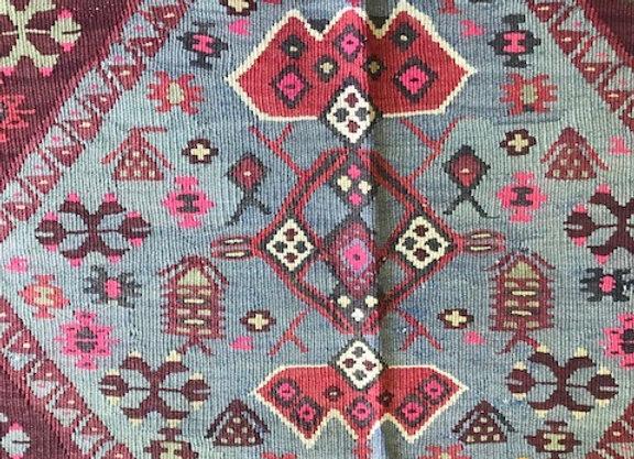 Vintage Herki Kurd Kilim - Turkey